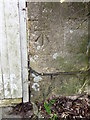 ST7717 : Bench Mark, Broadhay Cottage by Maigheach-gheal