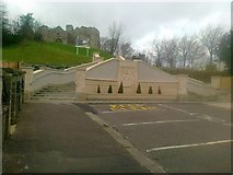 SS6188 : Oystermouth Castle, Oystermouth by Alex McGregor