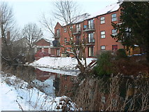 SK5802 : Flats along the Grand Union Canal by Mat Fascione