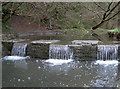 ST5769 : A weir on the Malago by Neil Owen