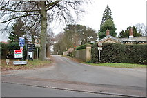 SK1300 : The entrance to Brockhurst Lane and Church by Mick Malpass
