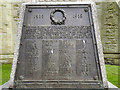 SJ6098 : War Memorial Inscription by David Dixon