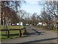 NZ2571 : Entrance to Parklands, Gosforth Park by Oliver Dixon