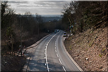 TQ2652 : View from Reigate Hill Footbridge by Ian Capper