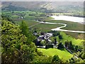 NY2618 : Lodore Falls Hotel and River Derwent by Rose and Trev Clough