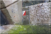 NT2540 : Orienteering marker, Tweed Bridge, Peebles by Jim Barton