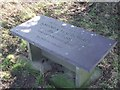 TL8638 : Memorial Seat by Keith Evans