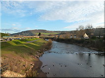 SO5012 : The River Monnow from Monmouth's historic bridge by Ruth Sharville