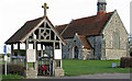 TL9604 : Lych Gate at St Lawrence by Roger Jones