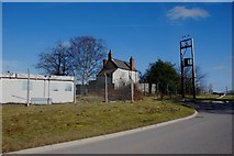 SK1301 : Derelict House at the entrance to Weeford Gravel Pit by Mick Malpass