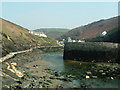 SX0991 : Boscastle Harbour before the floods of 2004 by Rob Farrow