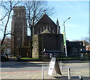 SS6592 : East side of Grade II listed St Mary's Church, Swansea by Jaggery