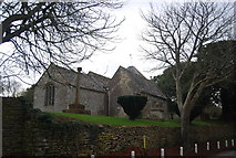 SY5388 : Village Cross and Church of St Mary, Puncknowle by N Chadwick