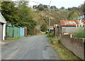 SO2101 : Lock-up garages near the northern end of Hafodarthen Road Llanhilleth by Jaggery