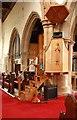TQ5486 : St Andrew, High Street, Hornchurch - Pulpit by John Salmon