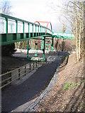 SH5968 : Bridge over A4244 by Chris Andrews