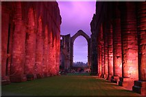 SE2768 : Lights inside Fountains Abbey by Yvonne Wakefield
