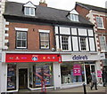 SO9570 : Bromsgrove High Street Phones 4U and Claire's by Roy Hughes