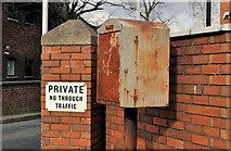 J3674 : Drop box, Belfast by Albert Bridge