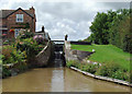 SJ6558 : Minshull Lock near Church Minshull, Cheshire by Roger  Kidd