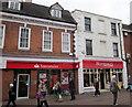 SO9670 : Bromsgrove High Street  Santander & Ryman by Roy Hughes