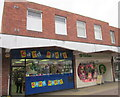 SO9670 : Bromsgrove High Street  Card Party & Oxfam by Roy Hughes