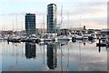 TQ7670 : Chatham Maritime Marina by Oast House Archive