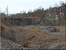 SK1373 : Disused limestone quarry at Miller's Dale by Neil Theasby