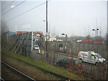 TQ2282 : Old Oak Common bridge approach, from the West London Line by Christopher Hilton