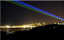 NZ3572 : 'Global Rainbow', Whitley Bay by Andrew Curtis