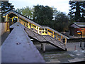 SP1465 : Lighted footbridge, Henley-in-Arden station by Robin Stott