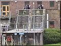 SW9873 : Archimedes screw pump at Wadebridge sewage works by David Hawgood