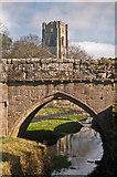 SE2768 : Bridge over River Skell, Fountains Abbey by Ian Capper