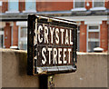 J3673 : Crystal Street sign, Belfast by Albert Bridge
