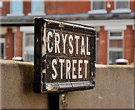 J3673 : Crystal Street sign, Belfast by Albert Bridge