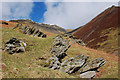 NY3126 : Rock outcrops below Gategill Fell, Blencathra by Jim Barton