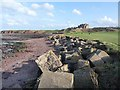 NT6679 : Coastal defences at Winterfield Golf Club by Oliver Dixon