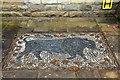 SD5868 : Stone mosaic outside the butcher's shop by Steve Daniels