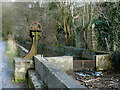 SK1772 : Mill race and control by Cressbrook Mill by Andrew Hill