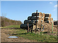 TL4056 : Waymarks and bales by John Sutton