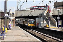 TQ2081 : The Train Approaching Platform 3... by Martin Addison