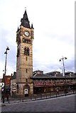 NZ2814 : Clock tower on the Market Hall by Steve Daniels