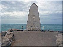 SY6768 : Portland Bill - Obelisk by Chris Talbot