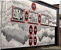 J3574 : Mural, Ballymacarrett, Belfast (2) by Albert Bridge