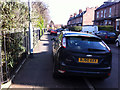 SJ8293 : Pavement parking on Sandy Lane, Chorlton by Phil Champion