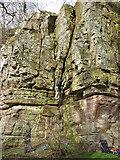 NY6121 : Rock climbers at Jackdaws' Scar, King's Meaburn by Karl and Ali