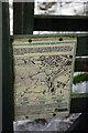 SE0025 : 'Conservation Walks' notice above Martin Wood, Mytholmroyd by Phil Champion