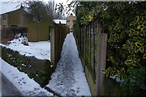 SE0026 : Narrow footpath at Coiners Fold, Mytholmroyd by Phil Champion