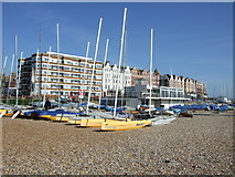 TQ7407 : Yachts on the beach, Bexhill by JThomas
