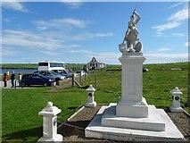 HY4800 : Statue, car park and Italian Chapel, Orkney Islands by Robin Drayton